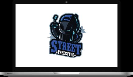 Freestyle Logo Design Laptop Mockup