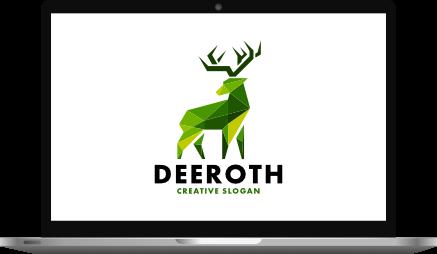 Geometric Logo Design Laptop Mockup