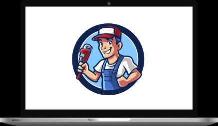 Mascot Logo Laptop